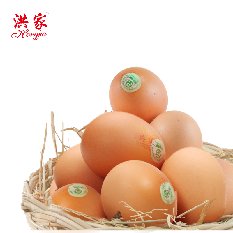 洪家绿色鸡蛋40枚礼盒装正面